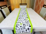 """Cook-Fry-Boil"" Cotton Table Runner"