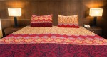 Damask Design Printed Double Bedsheet