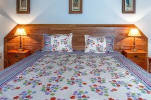 Flower Basket Double Bed Sheet