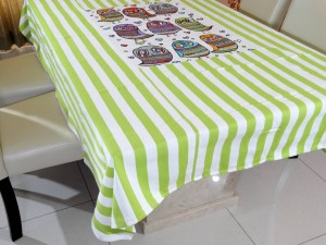 6 Seater Designer Colorful Bird Cotton Dining Table Cover