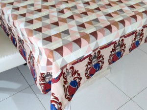 6 Seater Designer Colorful Kalamkari Cotton Dining Table Cover