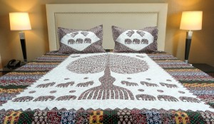 """Tree of Life"" Printed Double Bed Sheet"