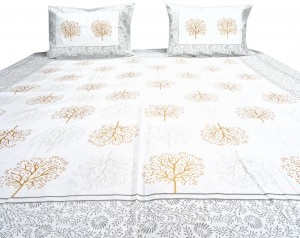 Autumn Trees Double Bed sheet