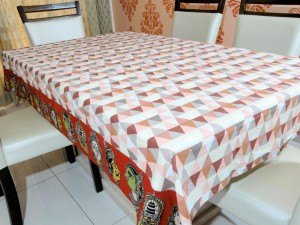 Kalamkari Cotton Dining Table Cover 6 Seater Designer Colorful