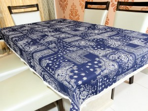6 Seater Designer Floral Cotton Dining Table Cover