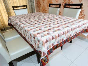 Kalamkari Cotton Dining Table Cover 6 Seater Designer
