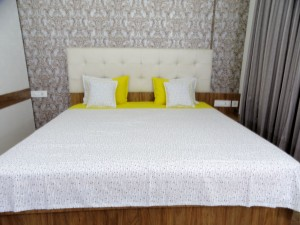 Yellow Falling Stars Double Bed Sheet