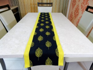 """Falling leaf"" Cotton Table Runner"