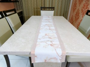 """Flower n Shimmer"" Cotton Table Runner"