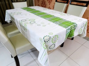6 Seater Cotton Table Cover Set