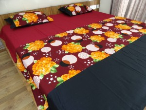 Floral Circle Designer Double Bed Sheet