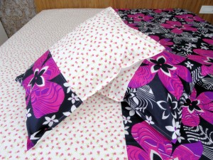 Big Flower Designer Double Bed Sheet
