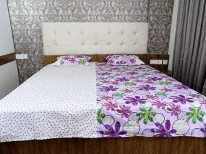 Colorful Flower Designer Double Bed Sheet