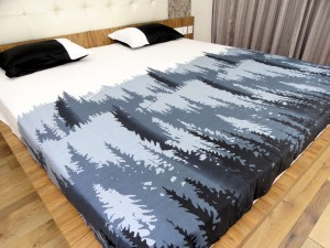 Pine tree Designer Double Bed Sheet