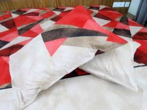 Red Diamond Designer Double Bed Sheet