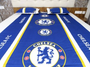 Football-Club Double Bed Sheet