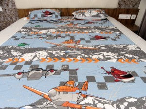 Helicopter kid's Double Bed Sheet