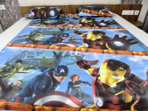 super Hero kid's Double Bed Sheet