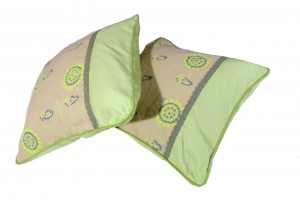 Lucknowi-Chikan Hand embroidery Cushion Cover
