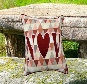(I LUV U) Personalized Cushion Cover