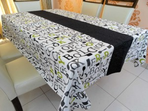 Cotton Dining Table Cover Designer 6 Seater