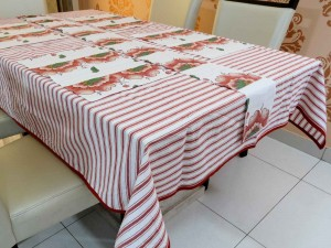 Cotton Dining Table Cover, Runner & Placemat set (8PCS)