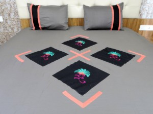 Embroidered  Double Bed Sheet