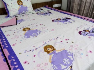 Bed in a Bag (3 Pcs) Princess Sofia Cartoon Single Bed
