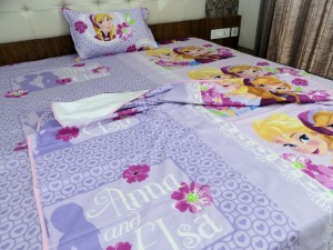 Bed in a Bag (3 Pcs) Anna Elsa Single Bed