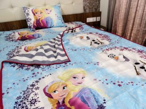 Bed in a Bag (3 Pcs) Frozen Princess Cartoon, Single Bed