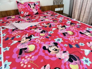 Bed in a Bag (3 Pcs)Minnie Cartoon Single Bed