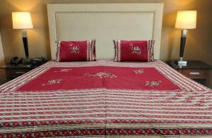Applique Embroidery Double Bed Sheet