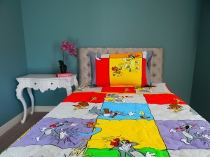 3 Pcs Bed in a Bag Tom n Jerry Cartoon (yellow border)