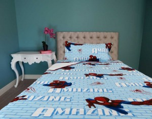 3 Pcs Bed in a Bag Spiderman Cartoon Single Bed