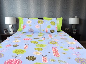 Blue Blossom Single Bedsheet