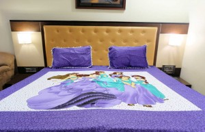 Purple Big Princess Double Bed Sheet