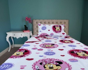 Minne Mouse Cartoon Single Bed in a Bag