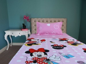 Minnie Cartoon Single Bed Sheet