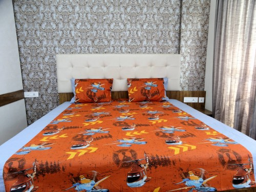 Kids Cartoon Double bed sheet