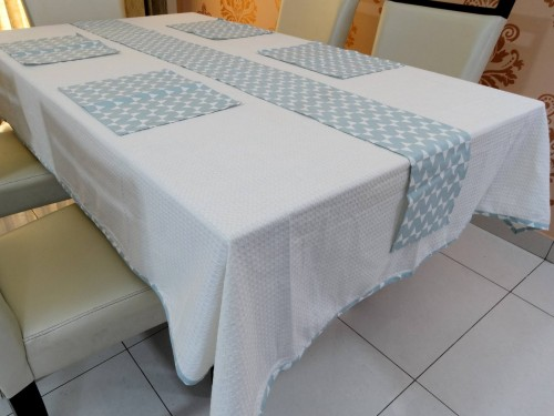 Cotton Dining Table Cover, Runner & Placemat set