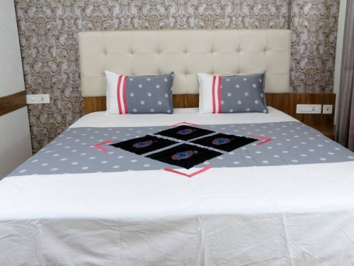 Embroidered Cotton Double Bed Sheet