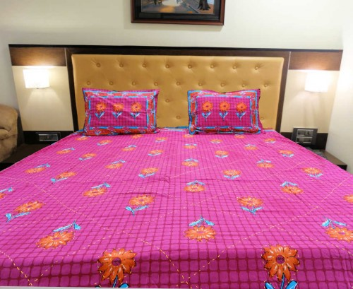 Kantha Embroidery Double Bed Sheet