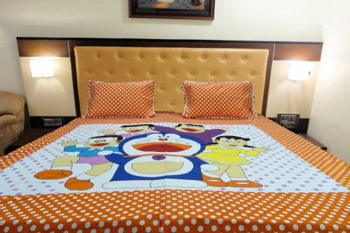 kids cotton double bed sheet