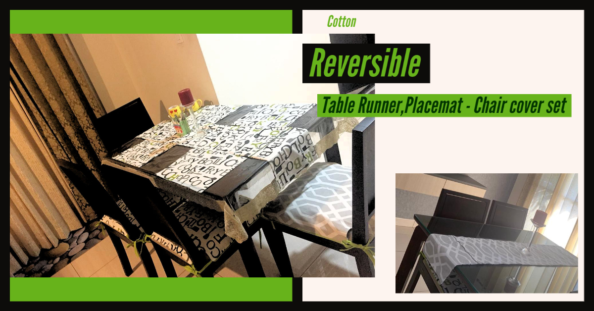 Customized Chair Covers and Table Runner