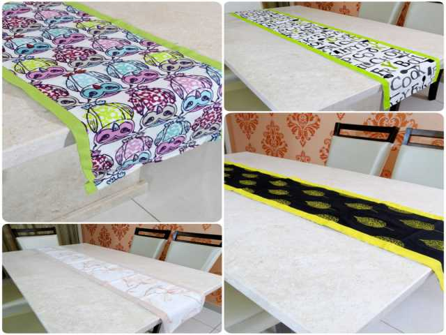 How to Decorate the Dining Table with a Trendy, Modern and Cotton Table Runner?